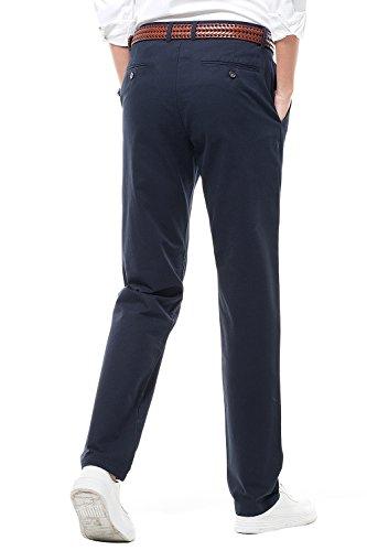 16 Casual Marino Liso Harrms Hombre Con Corte Recto Azul Perneras Elegir Hombre Para De Pantalones Estilo Rectas Colores q7w5C