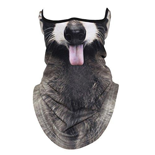 3D Cat Dog Animal Neck Gaiter Warmer Face Mask for Motorcycle Cycling Snowboard Hunting Ski(46) (Animal Hat Ski)