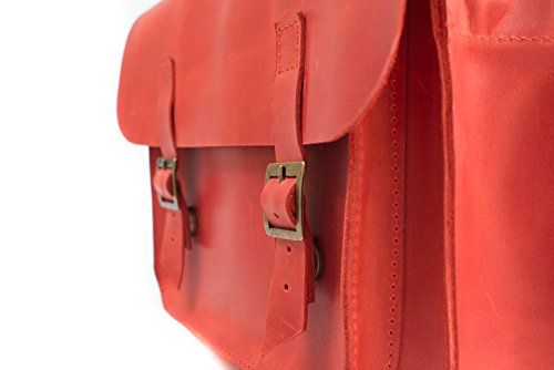 Handbag Crossbody Soft Convertible Red Leather 07008 Bag Shoulder Backpack Leather Unisex InCarne pqZHBxwH