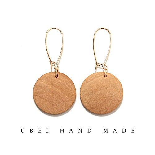 Necklace Teak - Custom original design niche minimalist style teak logs personality trend color necklace pendant earrings