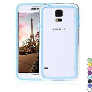 GX Cubierta colorida del caso del capítulo TPU de parachoques para PC i9600 Samsung Galaxy S5 , White
