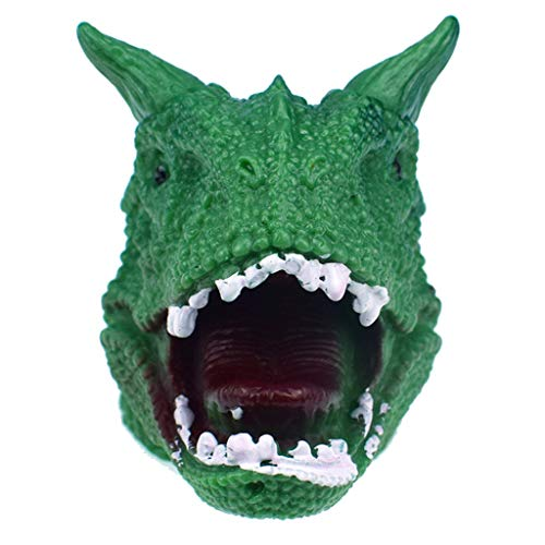 Godzilla Green Hand Puppets Role Play Realistic Dinosaur Finger Glove Toys
