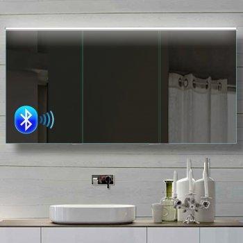 Rmi Bypack Alu Badezimmer Spiegelschrank Led Und Bluetooth