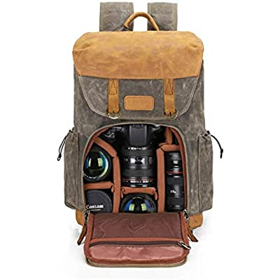 Camera Backpack Abonnyc camera bag case Waterproof Anti Theft Photography Travel Rucksack for DSLR SLR Nikon Canon Sony Laptop Green