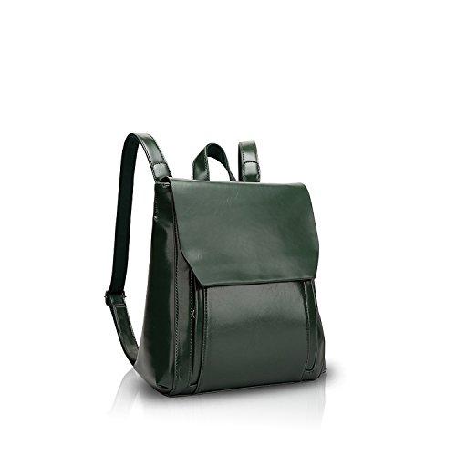 NICOLE&DORIS Fashion Women School College Travel Outdoor Shoulder Bag Backpack Daypack Waterproof PU Durable Soft Leather (Nicole Wrap)