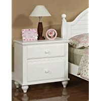 Night stand in White with 2 Drawers by Poundex