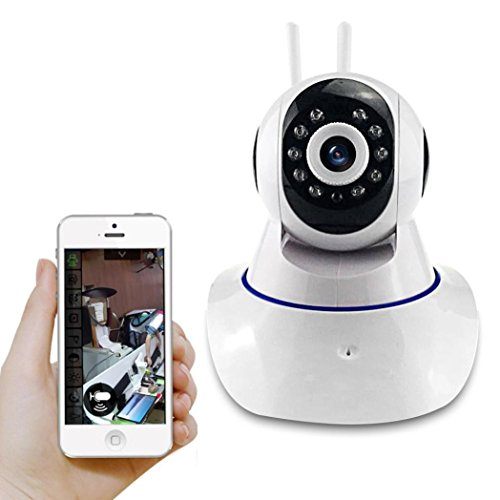 Mini Baby Monitor, Longtian 1280*720p HD Wireless WIFI IP Surveillance  Security Pan Camera with Two-Way Audio Chatting Baby Care Camera and  Infrared