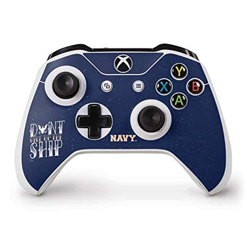 (Skinit Dont Give Up The Ship Xbox One S Controller Skin - Officially Licensed US Navy Gaming Decal - Ultra Thin, Lightweight Vinyl Decal Protection)