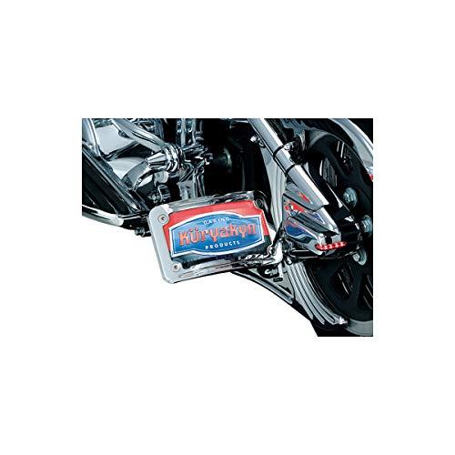 Kuryakyn Curved Horizontal Side Mount License Plate Holder (Chrome) (License Plate Curved Kuryakyn Frame)