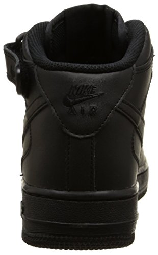 Nike Air Force 1 Mid (GS) Zapatillas de baloncesto, Niños Negro (004 BLACK/BLACK)