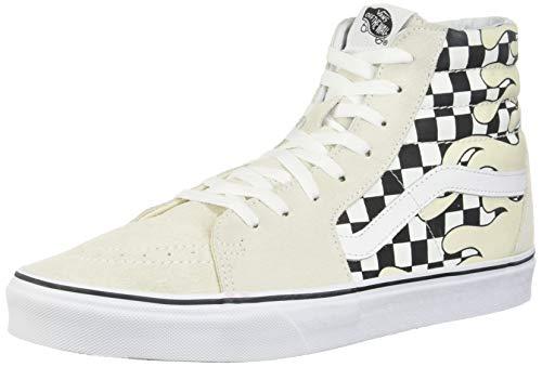 Vans SK8-HI Men's Sneaker Womens Skateboarding-Shoes VN-A38GERX7_7.5M - Checker Flame/Checker Flame (Vans Women Boots)
