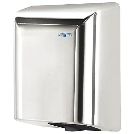 Nofer 01851.b Fuga secador de Manos con Sensor electrónico Acero Inoxidable Brillante Plata 35 x 27 x 17 cm: Amazon.es: Hogar