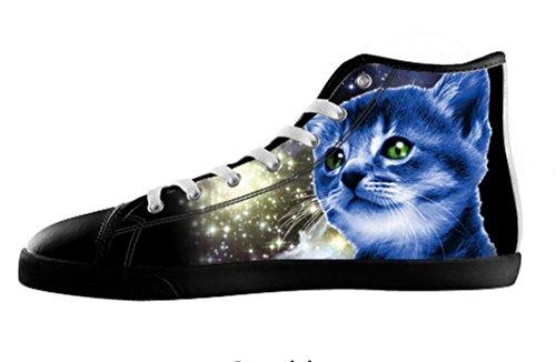 070081ea Menns Katter Galaksen Lerret Høy Topp Sko Katter Galakse Lerret Shoes19