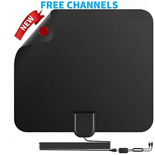 TV Antenna HD Digital TV Antenna 150 Miles Long Range Indoor Digital HDTV Antenna with Amplifier Signal Booster - Support 4K 1080P/HD VHF UHF