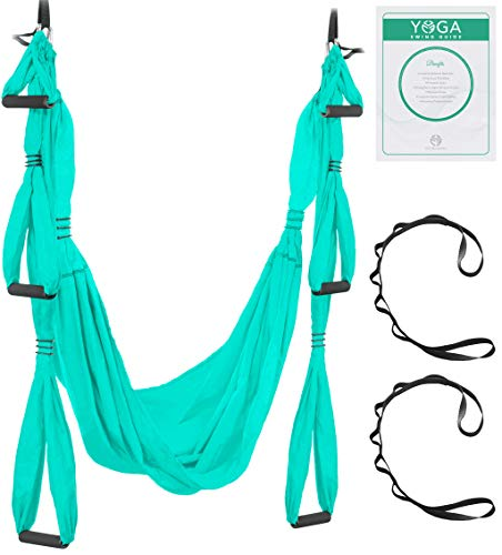 UpCircleSeven Aerial Yoga Swing Set – Yoga Hammock Sling Kit Extension Straps eBook – Antigravity Ceiling Hanging Yoga Sling – Inversion Swing for Beginners Kids