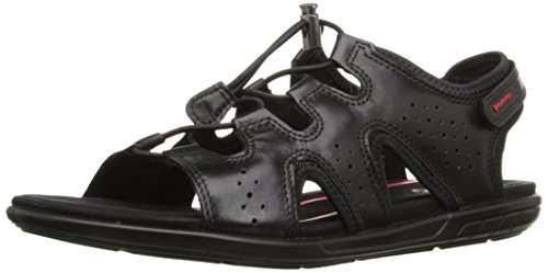 Athletic Closeout Shoes Womens (ECCO Footwear Womens Bluma Toggle Gladiator Sandal, Black, 38 EU/7-7.5 M US)