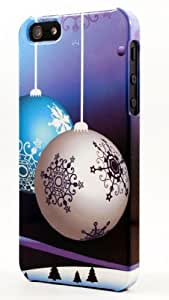 Christmas Ornaments Decorations With Snowflakes Dimensional Case Fits iPhone 5c by Maris's Diary