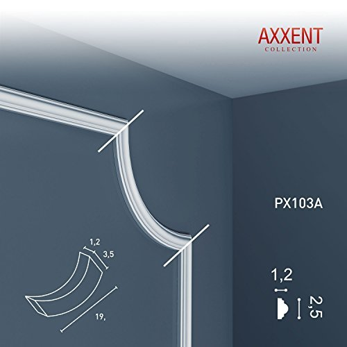 ce Moulding Stucco Orac Decor PX103A AXXENT Decoration for wall and ceiling 2 m ()