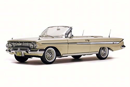 Almond Car (1961 Chevy Impala Convertible, Almond Beige - Sun Star 3408 - 1/18 Scale Diecast Model Toy Car)