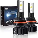 9004 HB1 Led Headlight Bulbs Hi/Lo Beam, Small Size,SEALIGHT Super Bright 24xCSP Chips Dual Beam Led Bulb-6000LM 6000K White(Pack of 2)