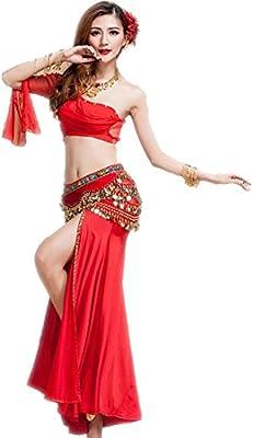 Wgwioo Belly Dancing Mujer Camisa Faldas Traje De Algodón ...