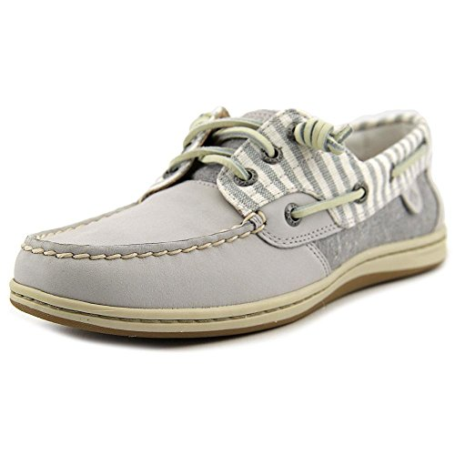Sperry Top-Sider Women's Songfish Stripe Light Grery Boat Shoe 6.5 M (B) STS95711