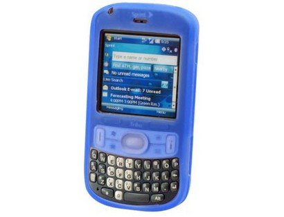 Premium Blue Silicone Cover Soft Rubber Gel Case for Palm Treo 800w [Retail Packaging]