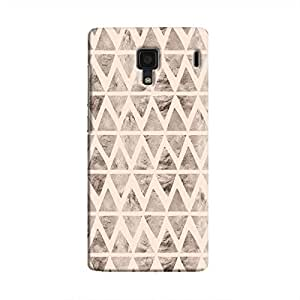 Cover It Up - Stone Triangles Pink Redmi 1s Hard case