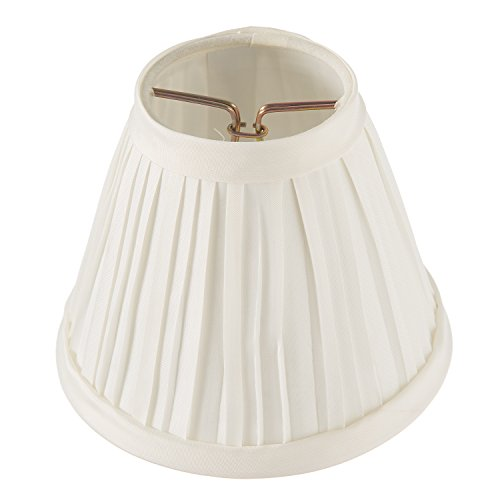 (Darice Pleated Cloth Covered Lamp Shade, 2.5-Inch by 4-Inch by 5-Inch, Ivory)