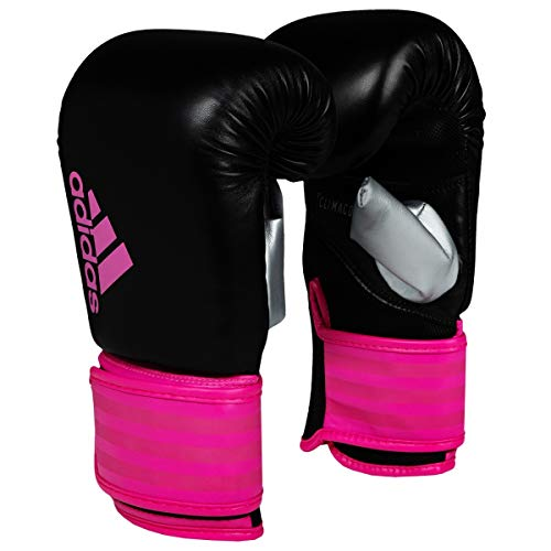 adidas FLX 3.0 Womens Boxing Gloves, Black/Pink, Large