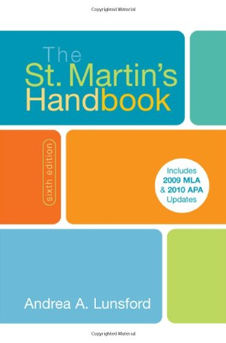 The St. Martin's Handbook with 2009 MLA and 2010 Updates