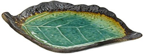 (Happy Sales HSDS-TQOELF Kosui Green Leaf Plate, 8