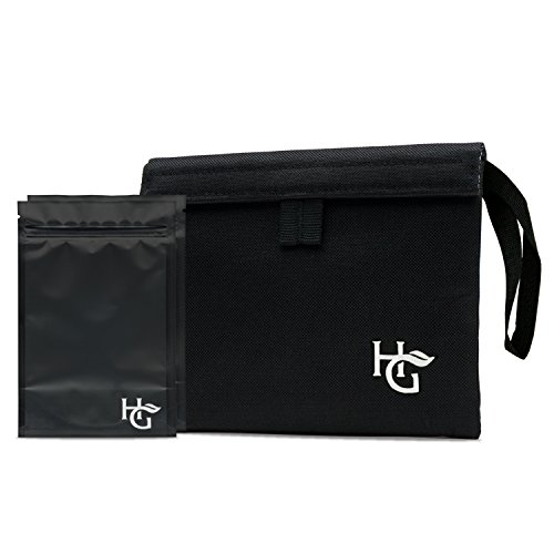 Herb Guard Premium Smell Proof Bag (7x6 inches, Holds Half Ounce to 1 Ounce) - Comes with 2 Resealable Travel Bags to Store Herbs & Consumable Goods and Keep Them Fresh for Months