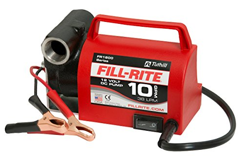 Fill-Rite FR1612 Portable Diesel Fuel Transfer Pump - 12 V DC, 10 GPM, 1/5 HP, 3/4'' NPT Inlet, No Nozzle by Fill-Rite