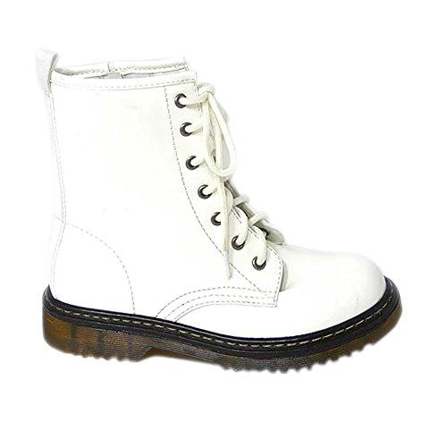 Combat Shoes White Punk UP Zip UK High 786 Patent Lace Ankle Patent Aaishaz Boots dms Ladies Womens Vintage 7 pnHq7qxS6