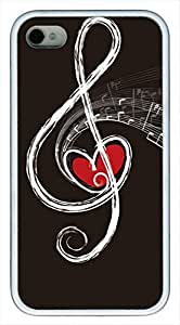 Musica Notes POP Custom Rubber(TPU) white Case for iphone 4 case or iphone 4s case by Cases & Mousepads