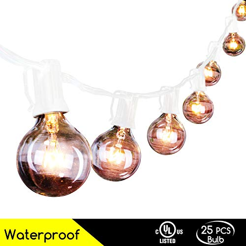Outdoor String Lights White Cord