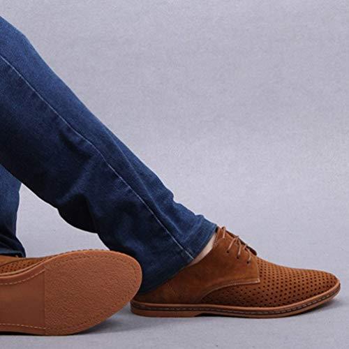 Negocios Zapatos Formales Los Vestir Hueco para Punta Respirable Camello Oxford Charol Salidas Zapatos Zapatos Hombres Hombres 6wq1SS