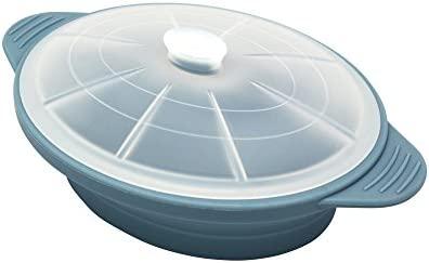 Olla Microondas de Silicona, Color Azul