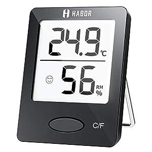 Habor Igrometro Termometro Digitale Termoigrometro LCD con l'Icona di comforto Termometro Ambiente Interno Rilevatore di… 41RfYoDK1NL. SS300