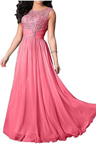 La Lang Chiffon Festlichkleider Braut Brautmutterkleider Damen Wassermelon Brautmutterkleider Abendkleider Marie 117ABqPwnH