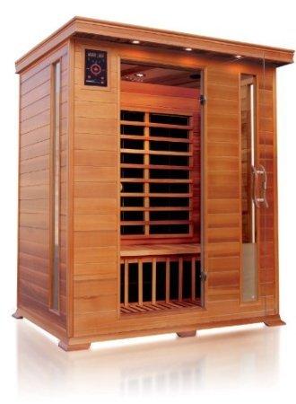 Sauna ad infrarossi a pannelli di carbonio per 3 persone per interno 153x110(125)x190h cm VB Italia