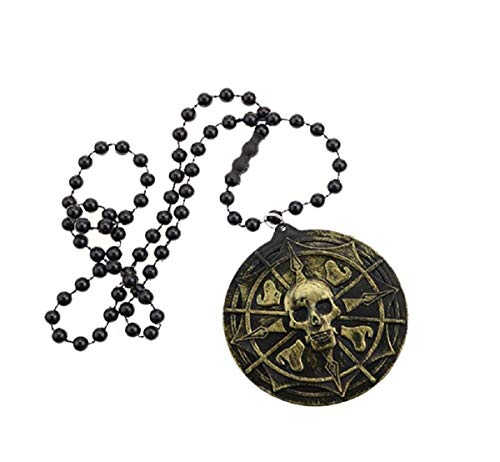 Pirate Necklaces Skull Tag Necklace Beads Jewelry for Pirate Party Supplies Favors,Assortment -