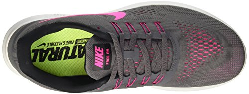 wide range of for sale NIKE Womens Free RN Running Shoes Dark Grey/Pink Blast 831509-006 Size 9 outlet discount cheap price outlet SV4qgL