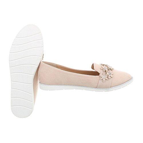 Design Halbschuhe N 36 Damen Slipper Schuhe Ital Beige Gr 75 q8PIdqw