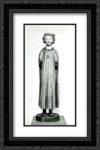 South Netherlandish Culture - 16x24 Black Ornate Frame and Double Matted Museum Art Print - Figure of a ()