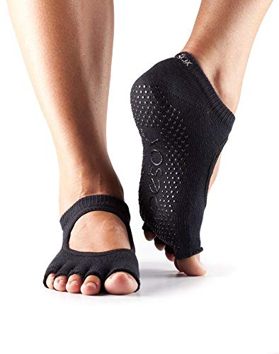 ToeSox Women's Bella Half Toe Grip Non-Slip for Ballet, Yoga, Pilates, Barre Toe Socks