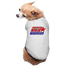 Gray American Ninja Warrior Competition Pet Dog Shirt Puppy Jacket