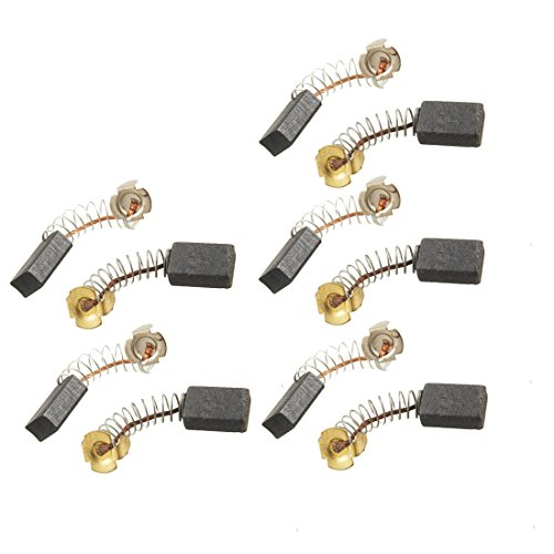 uxcell 5 Pairs Pcs 15mm x 10mm x 6mm Motor Carbon Brushes for Power Tool