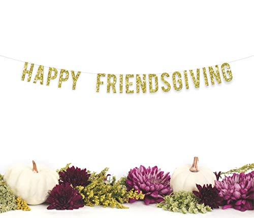 (Happy Friendsgiving Party Banner | thanksgiving friends party decor seasonal fall home decor)